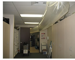 office with drying ductwork